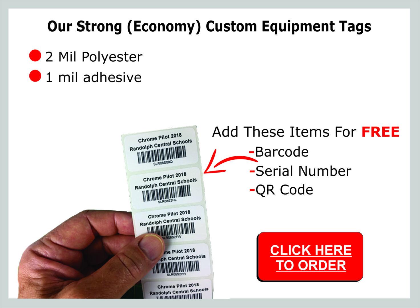 custom equipment tags