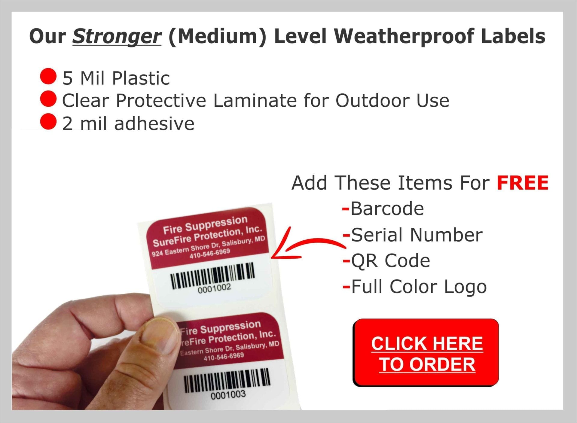 These are features of our stronger level asset tags for equipment